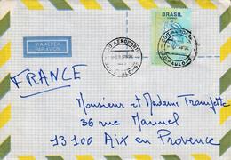 BRESIL SEUL SUR LETTRE POUR LA FRANCE 1994 - Cartas