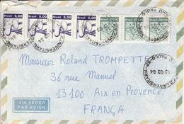 BRESIL AFFRANCHISSEMENT COMPOSE SUR LETTRE POUR LA FRANCE 1984 - Cartas