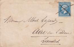LSC Annulation Manuel  Sur Yvert 22 Pour Aire Sur Adour - 1849-1876: Periodo Classico