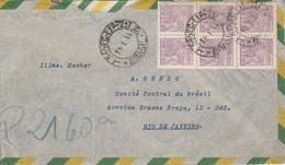BRESIL AFFRANCHISSEMENT COMPOSE SUR LETTRE POUR LA FRANCE 1944 - Briefe U. Dokumente