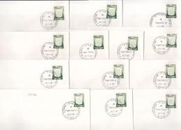 22769# ISRAEL LOT 13 LETTRES 1967 GABALYA RAFIAH NABLUS GAZA RAMALLA BETLEHEM DIR EL BALAH GENIN YERIHO HAN YUNES - Cartas