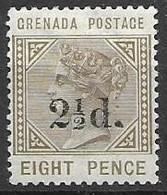 Grenada Mh * 1mm Thin Part 25 Euros - Grenada (...-1974)