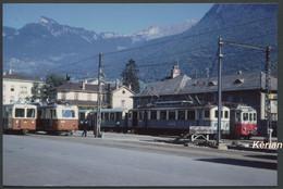 Photo Format CPSM - Suisse (VD) - Gare De L'Aigle  Plusieurs Convois En Attente - Voir 2 Scans - Treinen