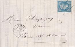 LAC Yvert 22 Losange De Paris  Pour Aire Sur Adour 1865 - 1849-1876: Periodo Classico
