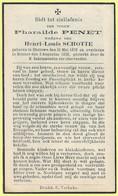 BP275 - BIDPRENT - DOODSPRENT - PHARAILDE PENET - GHELUWE 1870 / MENEN 1938 - Unclassified