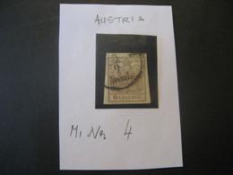 Österreich Kaisertum 1850- Freimarke Wappenzeichnung MiNr. 4 - Used Stamps
