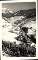 CPA Velká Úpa Großaupa Pec Pod Sněžkou Petzer Region Königgrätz, Winterpanorama Vom Ort - República Checa