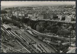 Vue Aérienne Sur Pau - La Gare - Le Boulevard Des Pyrénées - N° 1037 - Phot. YAN - Cely - Voir 2 Scans - Pau