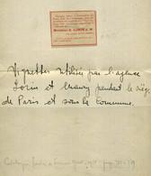 France Vignette Lorin Utilisée Durant Le Siège De Paris Et La Commune, 1870, Peu Courant - Non Classés