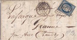 LAC Yvert 4 Céres  Grille Bordeaux   Pour Geaune 1851 - 1849-1876: Periodo Classico