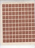 ITALIA  1930-32 - Sassone  A 12** -  Allegoria - Foglio 100 Esemplari -.- - Airmail