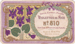 Vieux Papiers / Cpa -div -carte Parfumée-rare Parfum Violettes De Nice N°810-alexis Biette- Calendrier 1912 Au Dos - - Oud (tot 1960)