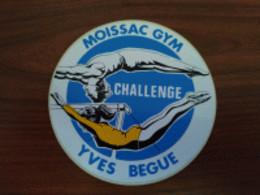 AUTOCOLLANT STICKER MOISSAC GYM CHALLENGE YVES BEGUE - CLUB GYMNASTIQUE - SPORT - Stickers