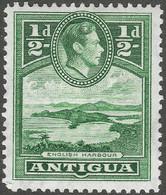 Antigua. 1938-51 KGVI. ½d MH. SG 98 - 1858-1960 Kronenkolonie