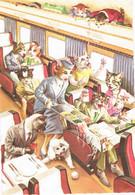 Chats Humanisé-dressed Cats -katzen -geklede Poezen Op De Trein  -Mainzer - Chats