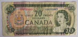 BILLET 20 DOLLARS CANADA 1969  ETAT TTB+ - Non Classés