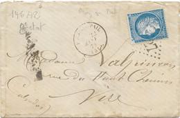 TIMBRES N° 60/A TYPE 1; GRANDE CASSURE ; TIMBRE CÉRÈS ; 146 A2  8 ème état;épi Blanc ; Impression Floue ;RARE; ;TTB - 1871-1875 Ceres