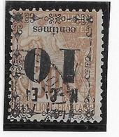Nouvelle Calédonie N°12a - Surcharge Renversée - Oblitéré - Fente - B - Used Stamps