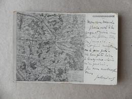 Grandes Manoeuvres De L'est 1905 Carte Géographique - Andere Gemeenten
