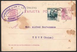 Entero Postal - Edi O 69 + 683 - Fechado En Andoain 1/8/35 Y Fechador Ambulante - 1850-1931