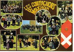 49 CHOLET Groupe Folklorique Les Compagnons Du Mouchoir En 9 Vues Folklore Costumes - Cholet