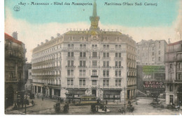 MARSEILLE HOTEL DES MESSAGERIES MARITIMES PAQUEBOT PLACE SADI CARNOT  CACAO VAN HOUTEN - Paquebots