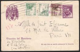 "Entero Postal - Edi O 82Fl + 816 + 817(2) - ""San Sebastián 8/11/38"" A Paris - 1850-1931"