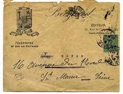Env Illustrée BAZAUD Ouvrages  Récréatifs - PUTEAUX  / Dept 60 SEINE / 1918 - 1877-1920: Semi Modern Period
