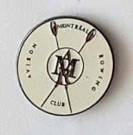 Pin's  Rond  Sport  CLUB  AVIRON  MONTREAL  ROWING - Aviron