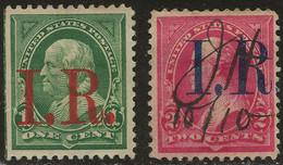 USA 1898 Revenue #R154 #R155 1c, 2c Used - Fiscaux