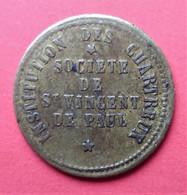 Monnaie De Nécessité - 69 - Lyon - Institution Des Chartreux. Société De St Vincent De Paul - 1 Kilog. PAIN - Monetari / Di Necessità