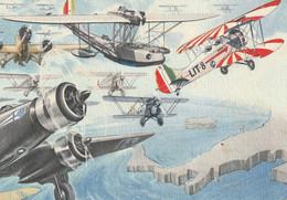 Militari - Ventennio Fascista - Arma Aeronautica - Il Tricolore Alato Sarà Vigile Guardia.......... Mussolini - - Guerra 1939-45