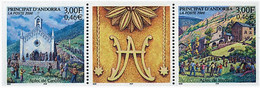 Andorra (French Post) 2000, Village Festivals Canolic And Meritxell, MNH Stamps Stripe - Neufs
