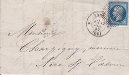 LAC Yvert 14A Napo.III Etoile De Paris - 1849-1876: Classic Period