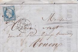 LAC Yvert 14A Napo.III Etoile De Paris Paris Pour Rouen 1855 - 1849-1876: Periodo Classico