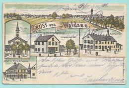 Gruss Aus Waldsee - Carte Précurseur Multivues -- WALDESEE -- Kirch - Totalansichc. - Bad Waldsee