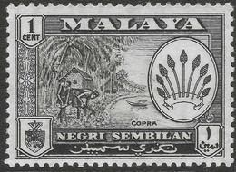 Negri Sembilan (Malaysia). 1957-63 Arms. 1c MH SG 68 - Negri Sembilan