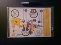 """Ausschneide-Bogen """"Der Luftradfahrer"""", 1985, Atelier GAG, Bremen - Non Classificati"""