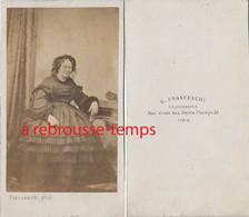 CDV-femme élégante De La Bourgeoisie-mode Second Empire-photo Franceschi à Paris - Anciennes (Av. 1900)