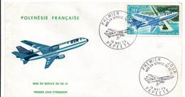 UTA 1973 - FDC Mise En Service DC 10 - Avion Aviation Airplane Flugzeug - !!! Petit Pli Sur Le Côté - FDC