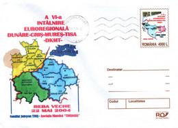 Romania 2004, Envelope, Euroregion Cooperation - Lettres & Documents