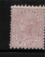 QUEENSLAND 1882 1/- QV P 9.5 X 12 SG 178 MNG #BNU14 - Gebraucht