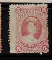 QUEENSLAND 1882 5/- QV SG 154 HM #BNU21 - Ungebraucht