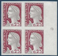 Marianne De Decaris N°1263** Bloc De 4 Non Dentelé BDFeuille TTB - 1960 Marianne De Decaris