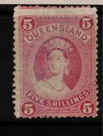QUEENSLAND 1882 5/- QV SG 163 HM #BNU20 - Ungebraucht