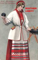 Finlande Fileuse Suomi Kuolemajarvelta Finland Fran Kuolemajarvi Illustration Cpa 1913 - Finlande