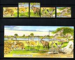 BOTSWANA, 2019, ANIMALS. BIRD, WETLANDS 5,  5v+S/S, MNH** NEW! - Ohne Zuordnung