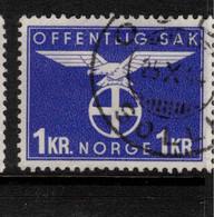 NORWAY 1942 1k Official SG O346 U #BMN3 - Officials