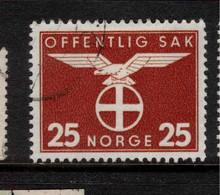 NORWAY 1942 25ore Official SG O341 U #BMN2 - Officials