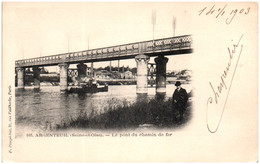 95 ARGENTEUIL - Le Pont Du Chemin De Fer - Argenteuil